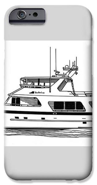 Luxury Motoryacht iPhone Case by Jack Pumphrey