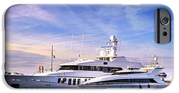 Wealth iPhone Cases - Luxury yachts iPhone Case by Elena Elisseeva