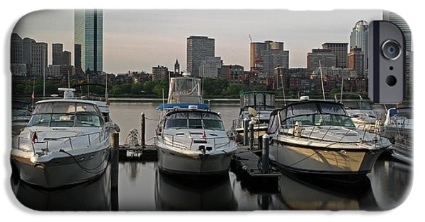 Charles River iPhone Cases - Luxury Yachts of Boston iPhone Case by Juergen Roth