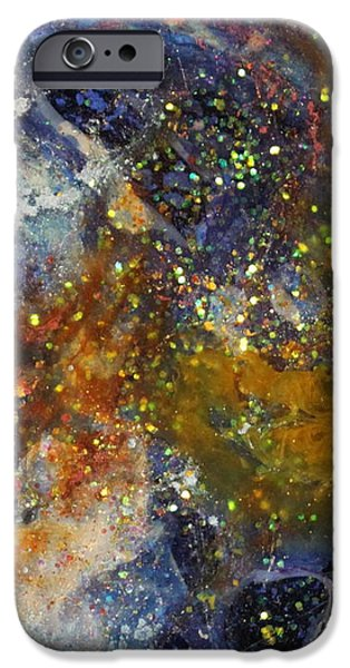 Splashy Paintings iPhone Cases - Lv1004 iPhone Case by Kathleen Fowler