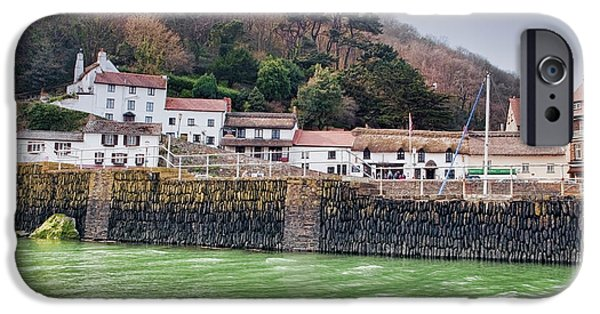 Village iPhone Cases - Lynmouth iPhone Case by Stephen Barrie