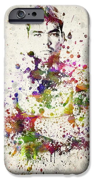 Boxer Digital Art iPhone Cases - Lyoto Machida iPhone Case by Aged Pixel