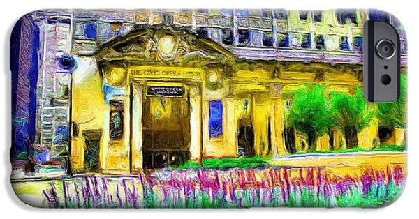 Ely Arsha iPhone Cases - Lyric Opera House of Chicago iPhone Case by Ely Arsha