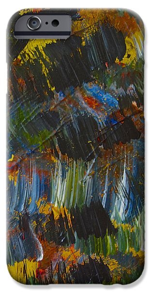 Colorful Abstract iPhone Cases - Intuitive painting  609 iPhone Case by Joan Reese