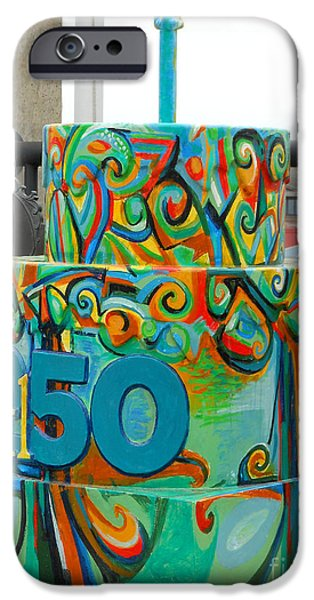 Fun Sculptures iPhone Cases - Lincoln Douglas Stl250 Cake iPhone Case by Genevieve Esson