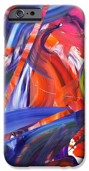Abstract Expression iPhone Cases - Lyrical Wax iPhone Case by Richard Day