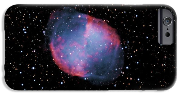 Stellar iPhone Cases - M 27--The Dumbbell Nebula iPhone Case by Alan Ley