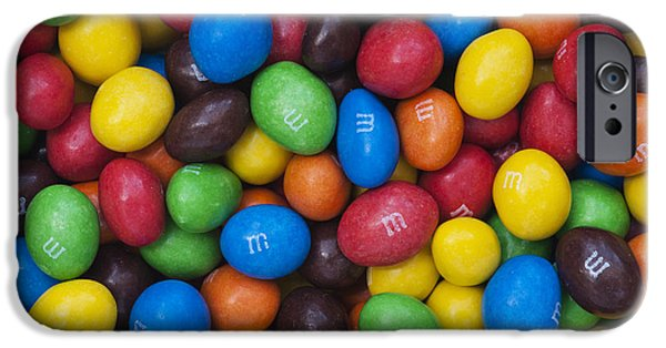 Spectrum iPhone Cases - M and Ms iPhone Case by Tim Gainey
