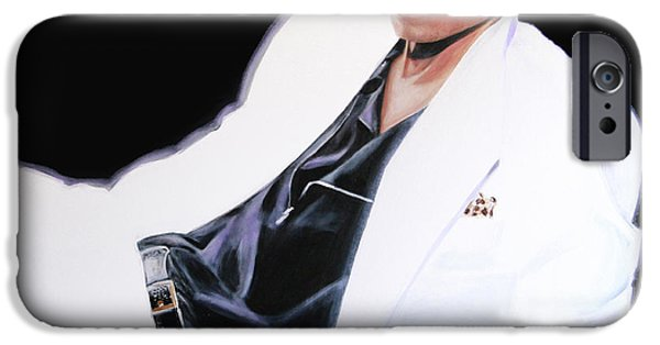 Mj Paintings iPhone Cases - Mj iPhone Case by Veronique Diga