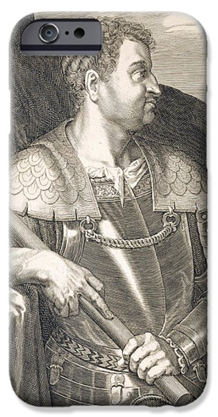 Following iPhone Cases - M Silvius Otho Emperor of Rome iPhone Case by Titian