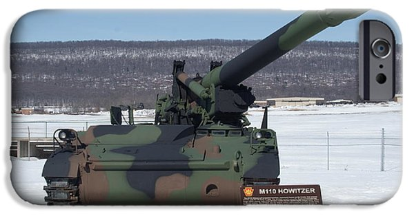 Power iPhone Cases - M110 Howitzer Front iPhone Case by Rob Luzier