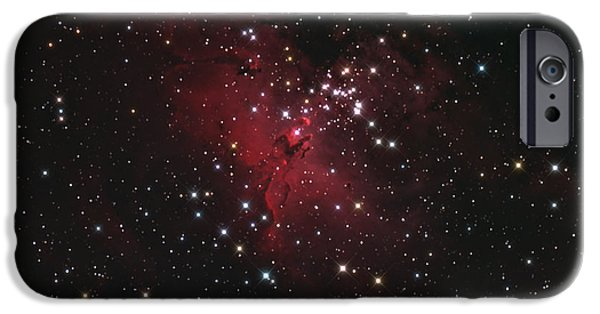 Constellations iPhone Cases - M16 The Eagle Nebula In Serpens iPhone Case by John Chumack