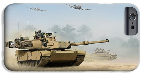 Iraq Prints iPhone Cases - M1A2 Abrams iPhone Case by Mark Karvon