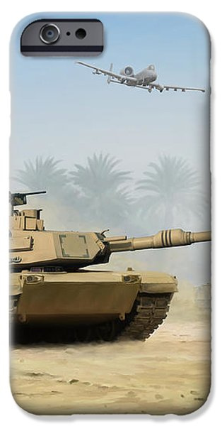 M1A2 Abrams iPhone Case by Mark Karvon