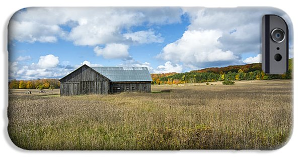 A Sunny Morning iPhone Cases - M22 Barn on a Sunny Day iPhone Case by Gej Jones