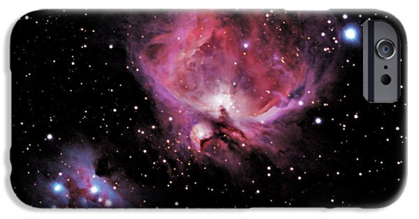 Constellations iPhone Cases - M42 The Great Nebula of Orion iPhone Case by Alan Vance Ley