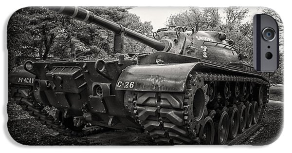 Central Il iPhone Cases - M48 Patton Tank Front View iPhone Case by Thomas Woolworth