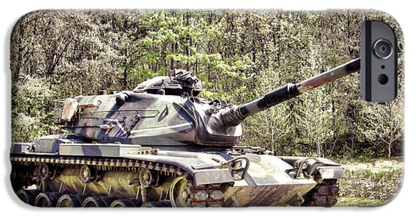 Hardware Photographs iPhone Cases - M60 Patton Tank iPhone Case by Olivier Le Queinec