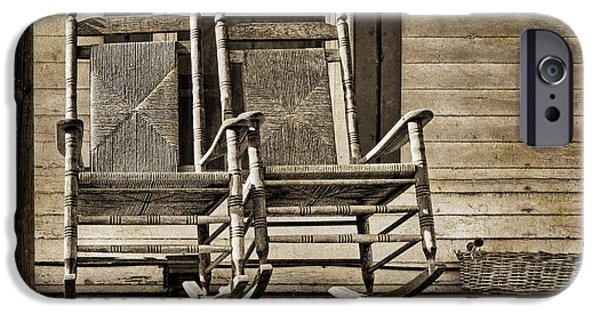 Rocking Chairs Photographs iPhone Cases - Ma and Pa iPhone Case by Nikolyn McDonald