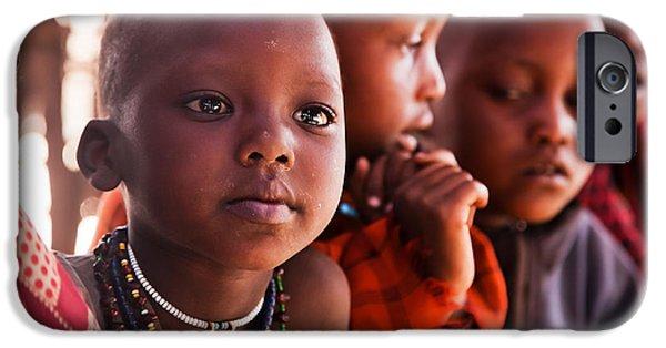 Best Sellers -  - East Village iPhone Cases - Maasai children in school in Tanzania iPhone Case by Michal Bednarek