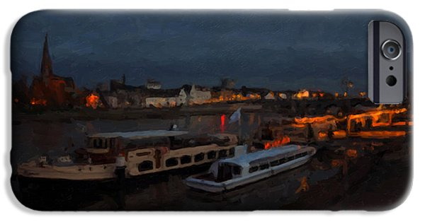 Limburg iPhone Cases - Maastricht nine days before Christmas iPhone Case by Nop Briex