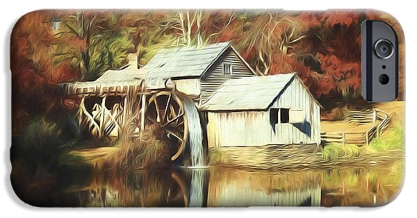 Grist Mill iPhone Cases - Mabrey Mill iPhone Case by Steve Bailey