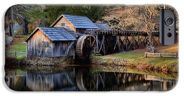 Grist Mill iPhone Cases - Mabry Grist Mill Evening Light iPhone Case by Adam Jewell