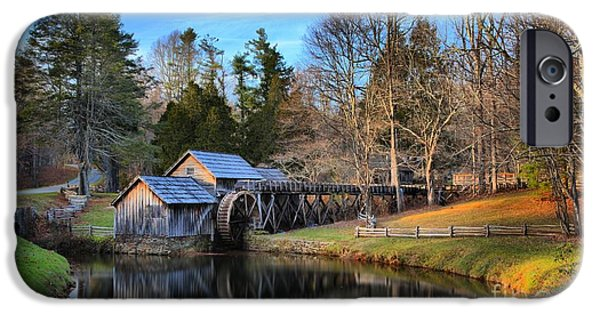 Grist Mill iPhone Cases - Mabry Grist Mill Sunset iPhone Case by Adam Jewell