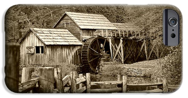 Grist Mill iPhone Cases - Mabry Mill 2 iPhone Case by Kelly Nowak