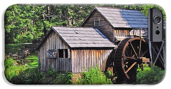 Grist Mill iPhone Cases - Mabry Mill - Blue Ridge Parkway iPhone Case by Kerri Farley