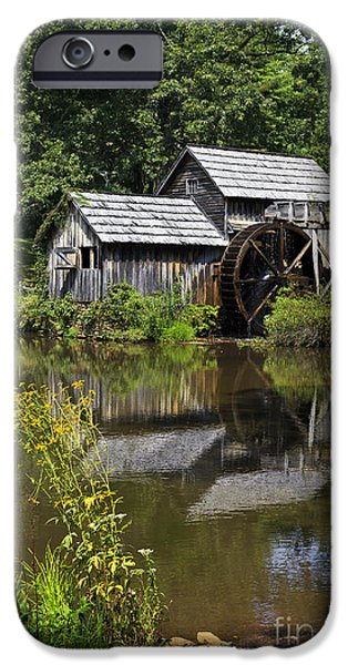 Grist Mill iPhone Cases - Mabry Mill in VA iPhone Case by Jill Lang