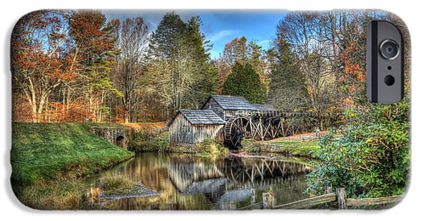 Grist Mill iPhone Cases - Mabry Mill iPhone Case by Jaki Miller