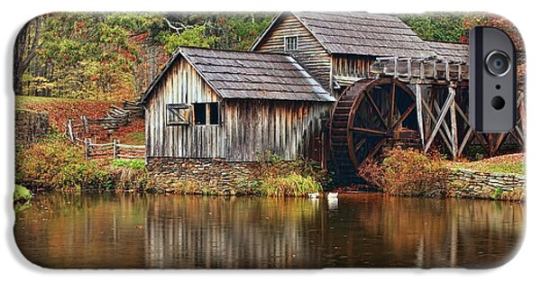 Grist Mill iPhone Cases - Mabry Mill iPhone Case by Marcia Colelli