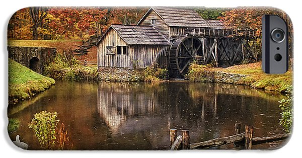 Old Mill Scenes iPhone Cases - Mabry Mill iPhone Case by Priscilla Burgers