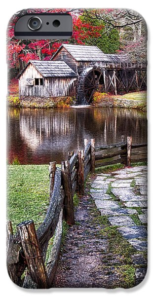 Grist Mill iPhone Cases - Mabry Mill iPhone Case by Renee Sullivan