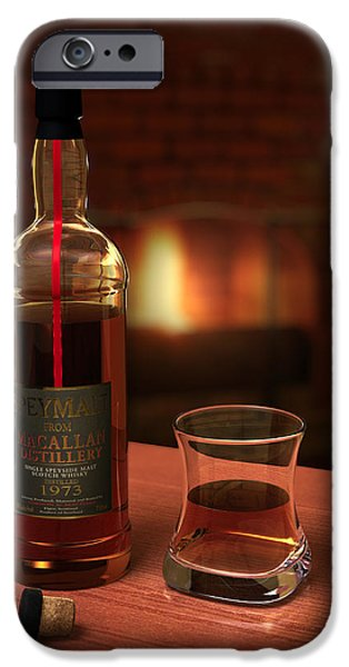 Booze iPhone Cases - Macallan 1973 iPhone Case by Adam Romanowicz