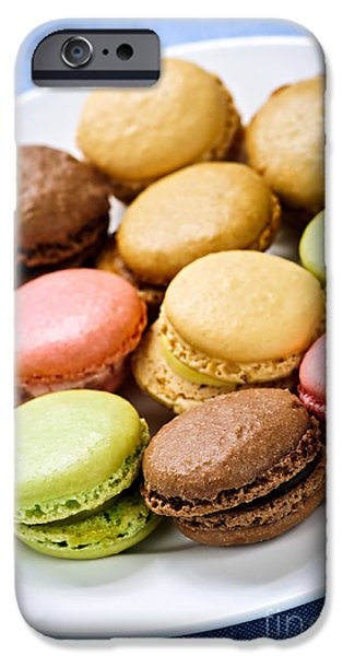 Macaroon cookies iPhone Case by Elena Elisseeva