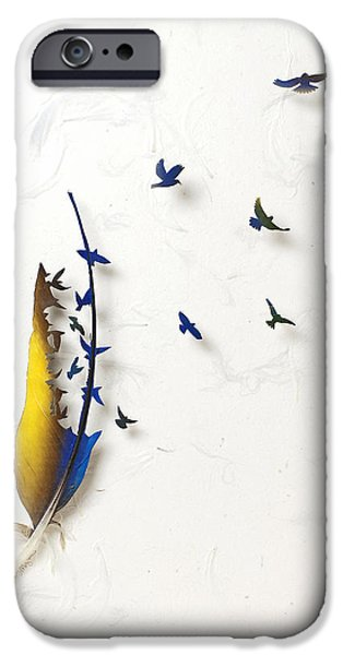 Birds Reliefs iPhone Cases - Macaw Dance 4 iPhone Case by Chris Maynard