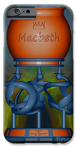 Stainless Steel iPhone Cases - Macbeth  -  Wedgewood Complimentary iPhone Case by Michael C Geraghty
