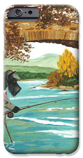 MacDuff Fishing iPhone Case by Margaryta Yermolayeva