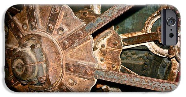 Rust iPhone Cases - Machine Gears 1 iPhone Case by Linda Bianic