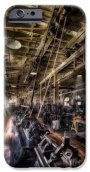 Frame Shop Digital iPhone Cases - Machine Shop iPhone Case by Jerry Fornarotto