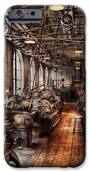 Machinist - A fully functioning machine shop  iPhone Case by Mike Savad