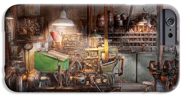 Old Mill Scenes iPhone Cases - Machinist - It all starts with a Journeyman  iPhone Case by Mike Savad