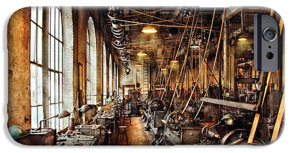 Recently Sold -  - Work Tool iPhone Cases - Machinist - Machine Shop Circa 1900s iPhone Case by Mike Savad