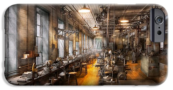 Recently Sold -  - Machinery iPhone Cases - Machinist - Santas old workshop iPhone Case by Mike Savad