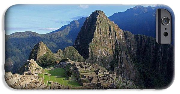 Ruin iPhone Cases - Machu Picchu iPhone Case by William Riley