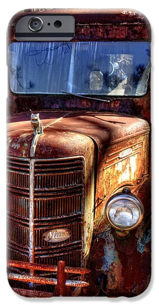 Junk Yard iPhone Cases - Mack Truck iPhone Case by Greg Mimbs