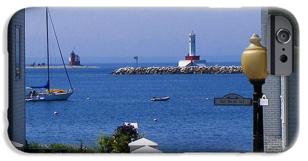Recently Sold -  - Sailboats iPhone Cases - Mackinac Island iPhone Case by Dave Smith