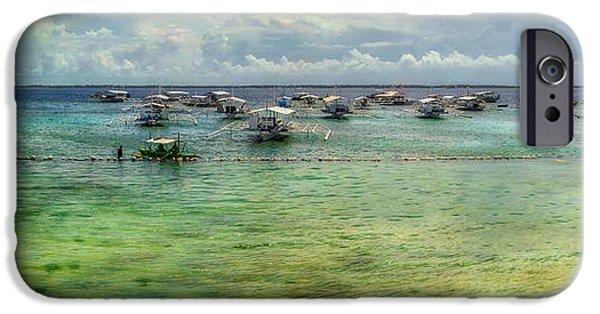 Pier Digital Art iPhone Cases - Mactan Island Bay iPhone Case by Adrian Evans
